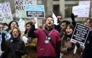 NHS placards