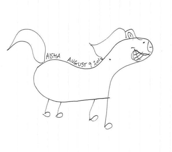 Aisha's horse